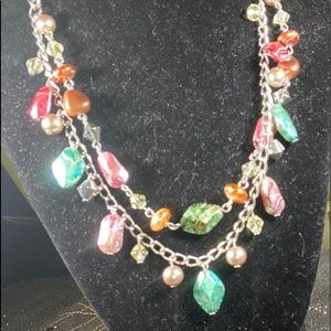 Multicolored Acrylic Bead necklace